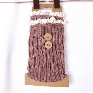 Accessories - Chic Casual Mauve Vintage Styled Leg Warmers
